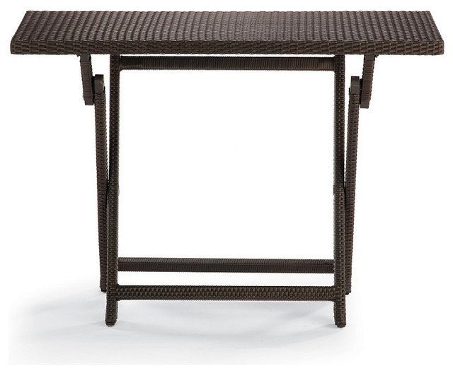 Cafe Counter Height Folding Table traditional-outdoor-tables