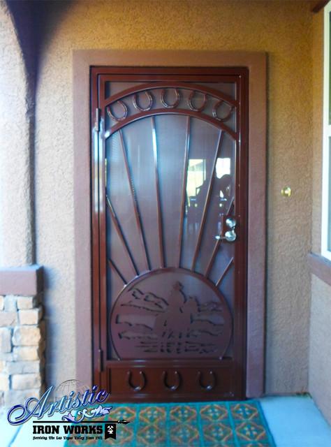 Wrought Iron Security Doors Contemporary Front Doors