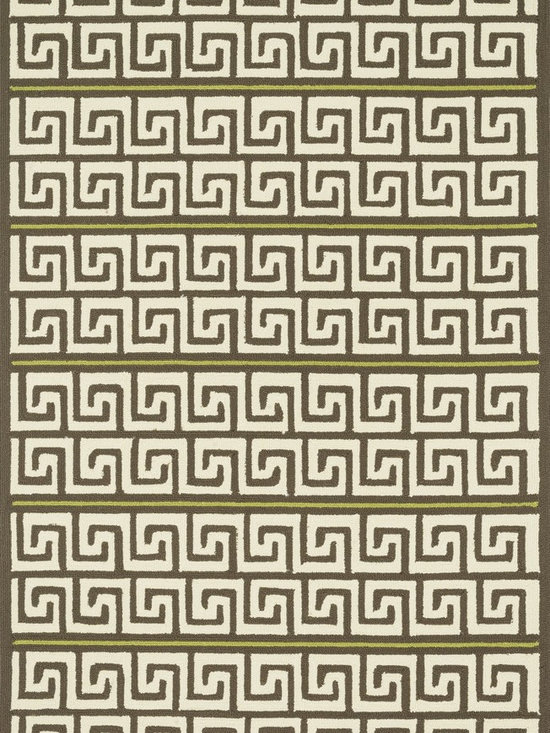 """Loloi Rugs - Loloi Rugs Palm Springs Collection - Brown / Green, 5'-0"""" x 7'-6"""" - For the first time ever, world renowned designer Dann Foley brings his eye for great design and modern living to outdoorrugs. With patterns and colors as dynamic as Dann's persona, the Palm Springs Collection reflects Dann's passion forfun outdoor decorating. Palm Springs is hand hooked in China of 100% polypropylene that's specially treated to befade-resistant in spite of regular sunshine or rain."""