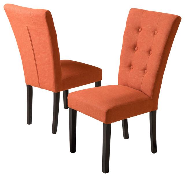 Leighton Fabric Dining Chairs (Set Of 2), Burnt Orange