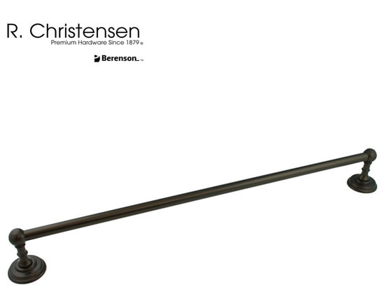 "2114US10B Oil Rubbed Bronze Towel Bar by R. Christensen - 24"" traditional style towel bar by R. Christensen in Oil Rubbed Bronze."