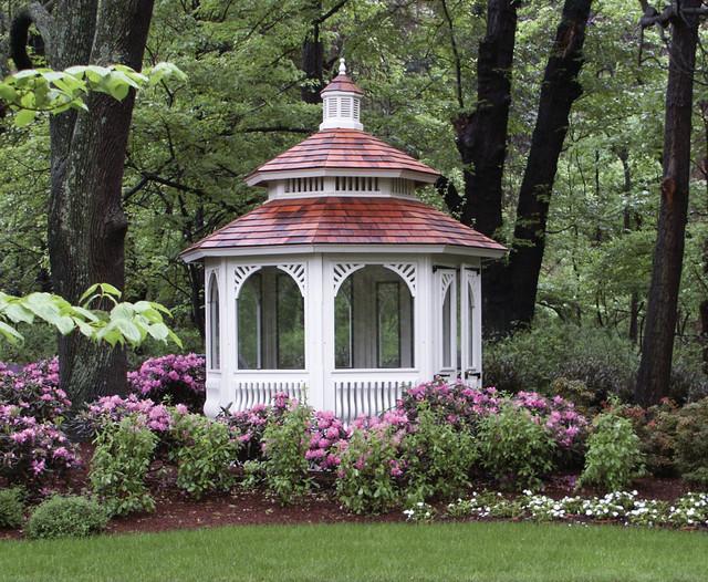 Screened Garden House traditional-gazebos