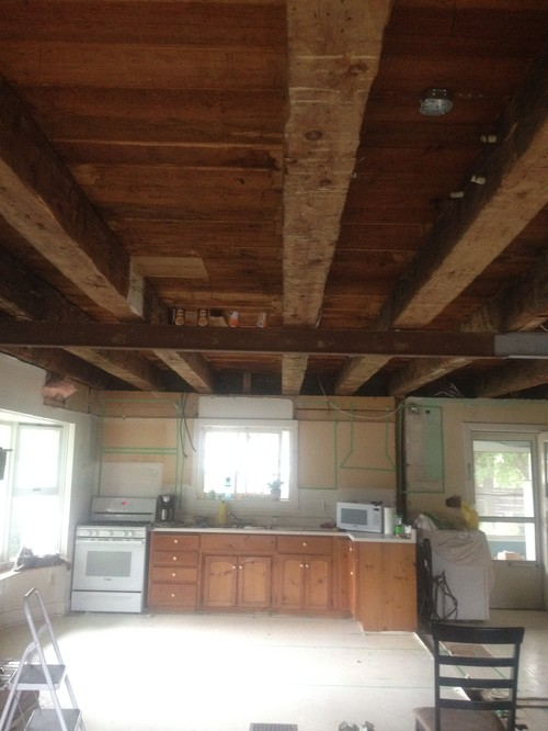 How To White Wash Wood Beams