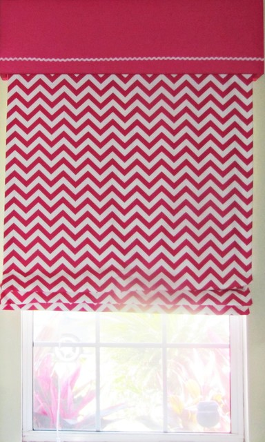 Kids room modern roman shades new orleans by drea - Roman shades for kids room ...