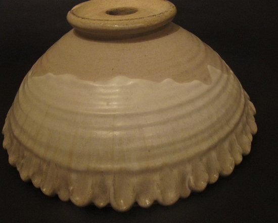 Pottery Vessel Sinks - Handmade Pottery Sink Vessel with Scalloped edges.