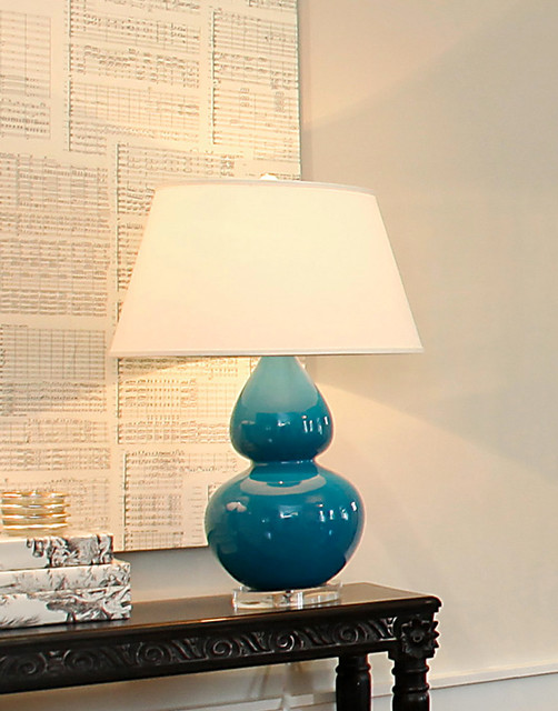 Living Room Neutrals Aqua Table Lamps San Francisco By Tamara M