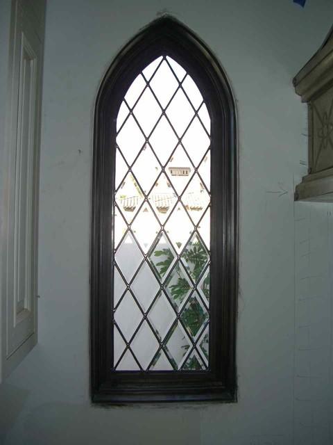 Beveled Diamonds Gable Window mediterranean-windows