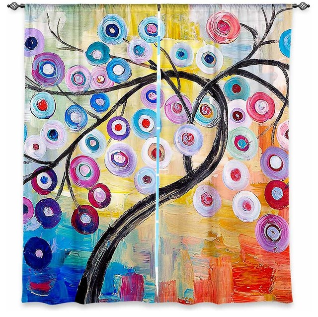 Window Curtains Lined by Lam Fuk Tim Happy Tree contemporary-curtains