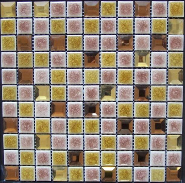 Crackled glazed mosaic tropical-tile