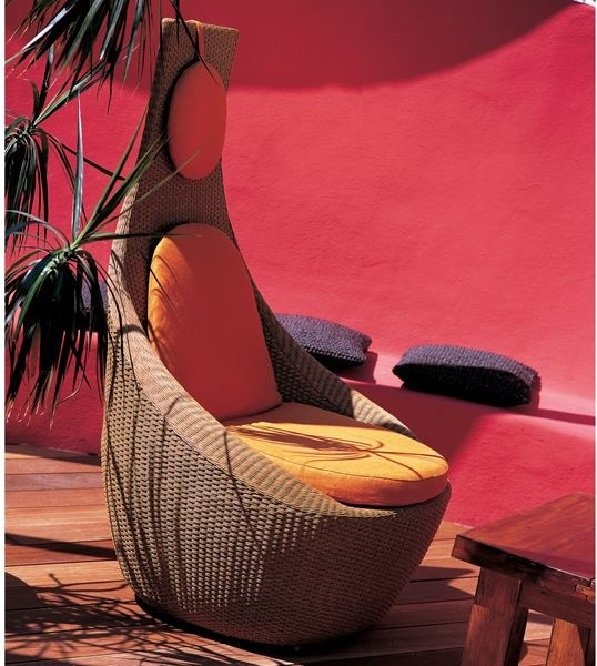 EMU Yucca Modern Outdoor Wicker Lounge Chair contemporary-outdoor-lounge-chairs