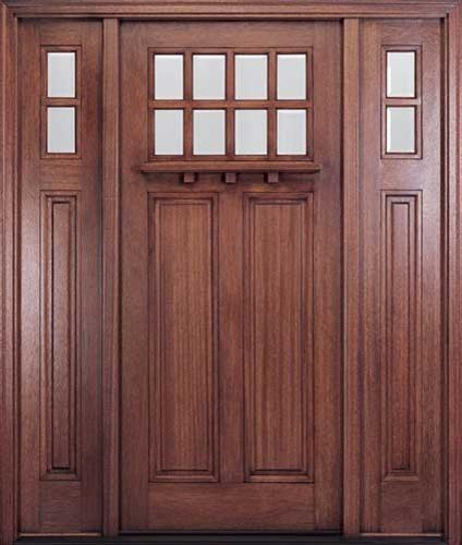 Andean Walnut Craftsman Entry Door accessories-and-decor