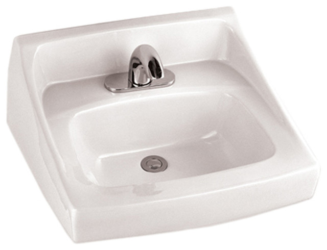 ... Cotton White Commercial Wall-Mount Lavatory ADA modern-bathroom-sinks