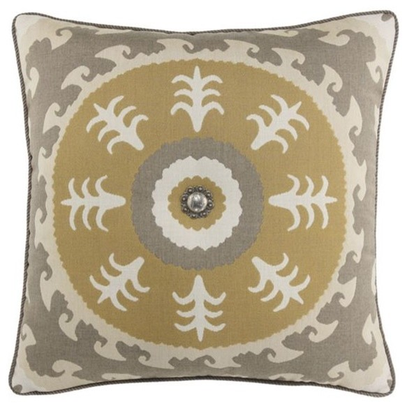 Elaine Smith Sedona Sun with Concho Pillow eclectic outdoor pillows
