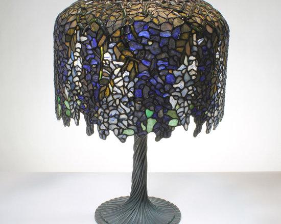 The Secret Garden (TSG 1895 USA) - 18-inch Winsome Wisteria Gemstone Tiffany-Style Table Lamp - Gemstone Lamp Shade:
