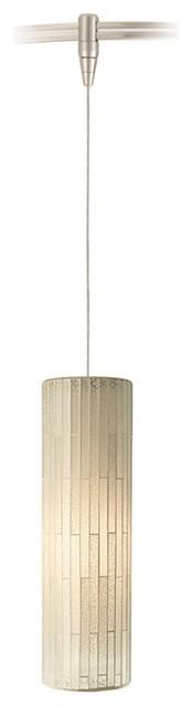 Peyton White Glass Nickel LED Tech Lighting MonoRail Pendant contemporary-track-lighting