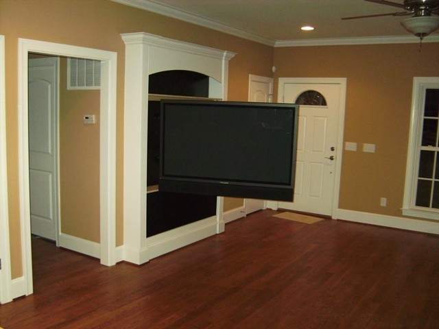 Newton Living Room Hdtv Surround Sound Installation Traditional Living Room Wilmington
