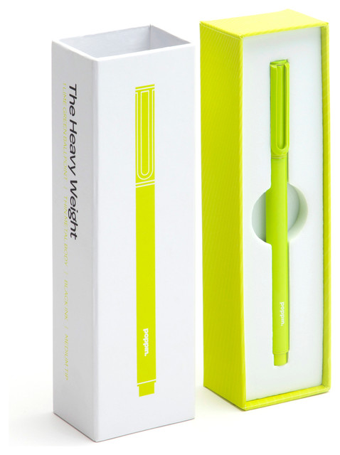 The Heavy Weight Pen Lime Green Modern Desk Accessories