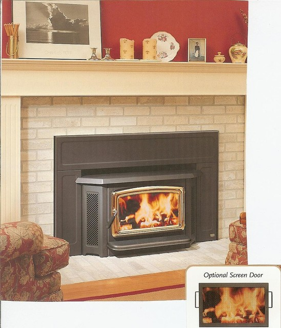 Pacific energy summit series 28 39 39 x 23 39 39 wood burning Contemporary wood burning fireplace inserts