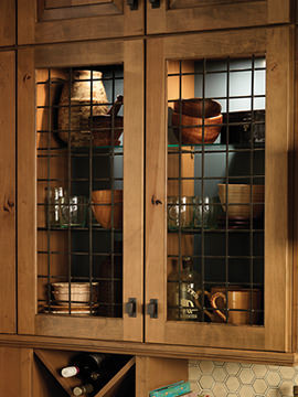 Forged Metal Insert - Rustic - Kitchen Cabinetry - other ...
