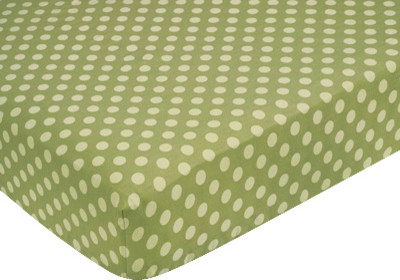 Forest Friends Green Dot Crib and Toddler Sheet by Sweet Jojo Designs traditional-kids-bedding