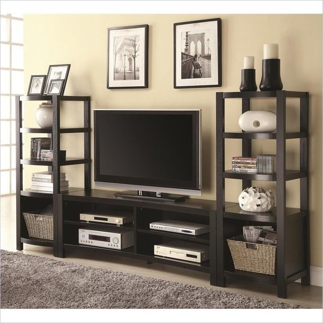 coaster curved front entertainment center contemporary