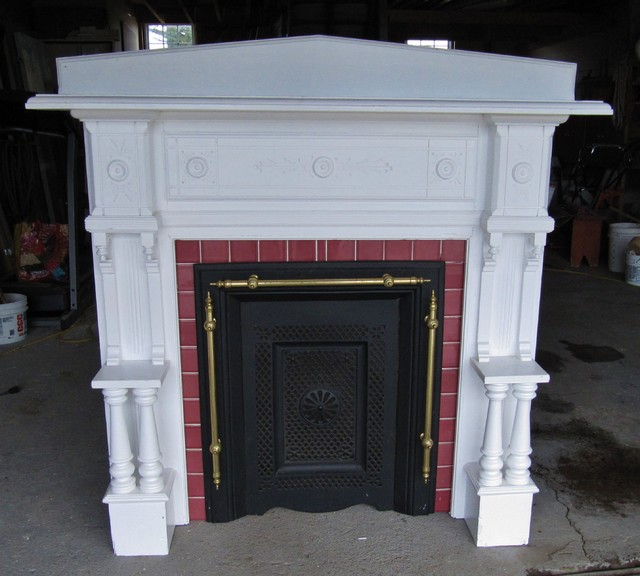 Vintage Fireplace Mantel Fireplace Surround Antique Mantel Circa 1920's - Craftsman - Fireplace ...