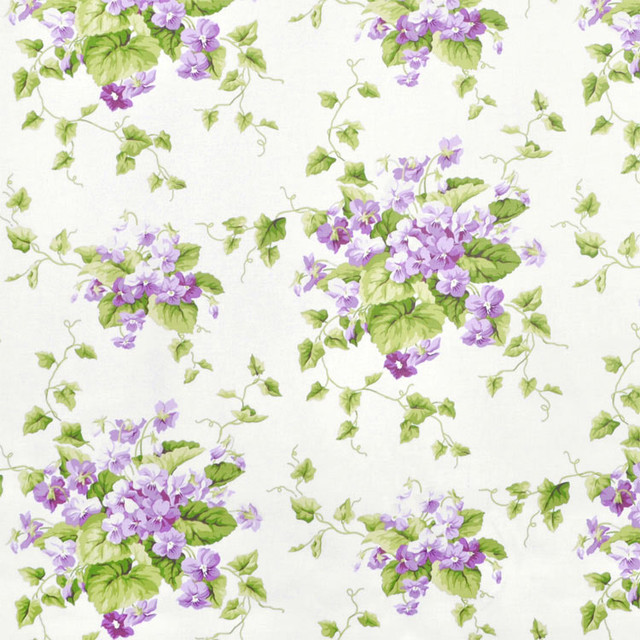 Waverly Sweet Violets Violet Fabric traditional-fabric