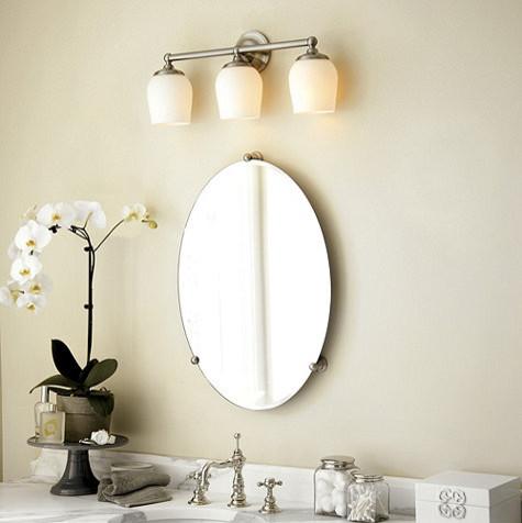 ... Oval Bath Mirror - Traditional - Bathroom Mirrors - by Ballard Designs