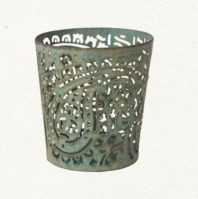 Paisley Votive Holder mediterranean-candles-and-candle-holders