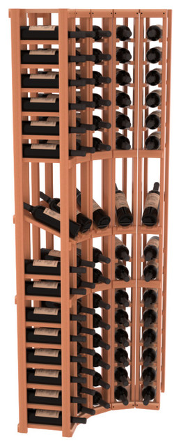 5 Column Display Row Cellar Corner Kit in Redwood, Satin Finish contemporary-wine-racks