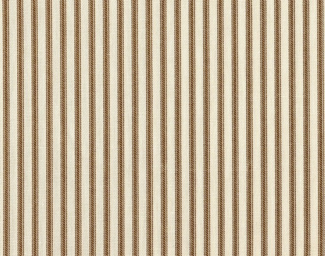 """30"""" Tiers Tailored Suede Brown Ticking Stripe, Unlined traditional-curtains"""