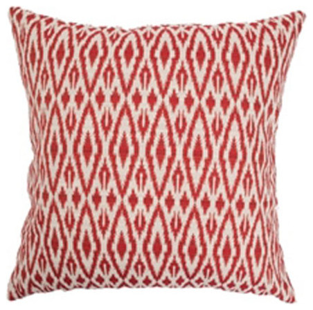 Hafoca Ikat Pillow Hot Pepper modern-decorative-pillows