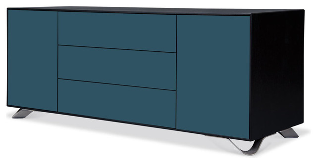 Boomerang Black-Petrol Special Edition Lowboard Large contemporary-storage-units-and-cabinets