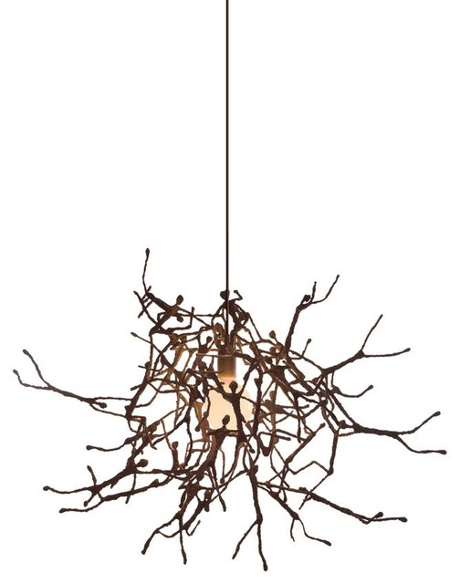 Hive LITTLE PEOPLE Round Suspension Lamp designed by Kenneth C eclectic-pendant-lighting