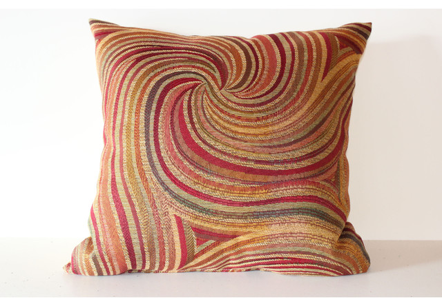 Altessa Camel 17-inch Decorative Throw Pillow contemporary-decorative-pillows