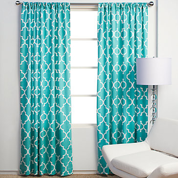 Mimosa Panels - Aquamarine modern-curtains