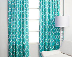 Mimosa Panels - Aquamarine modern curtains