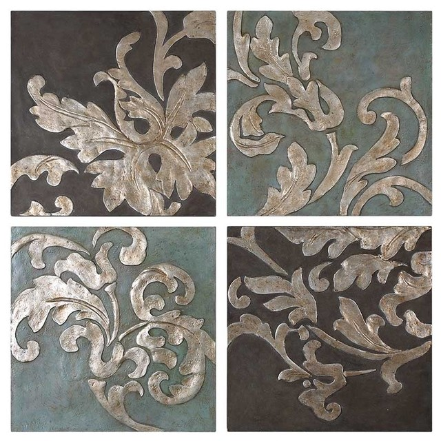 Uttermost Damask Relief Wall Plaques contemporary-artwork