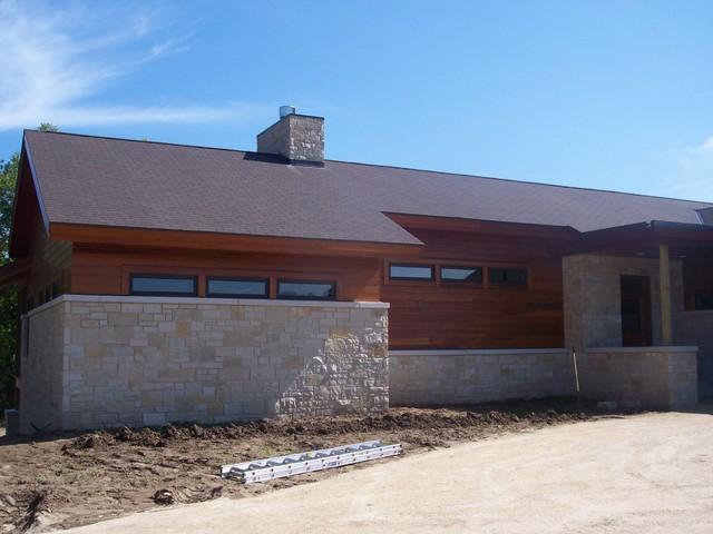 Custom Home contemporary-windows