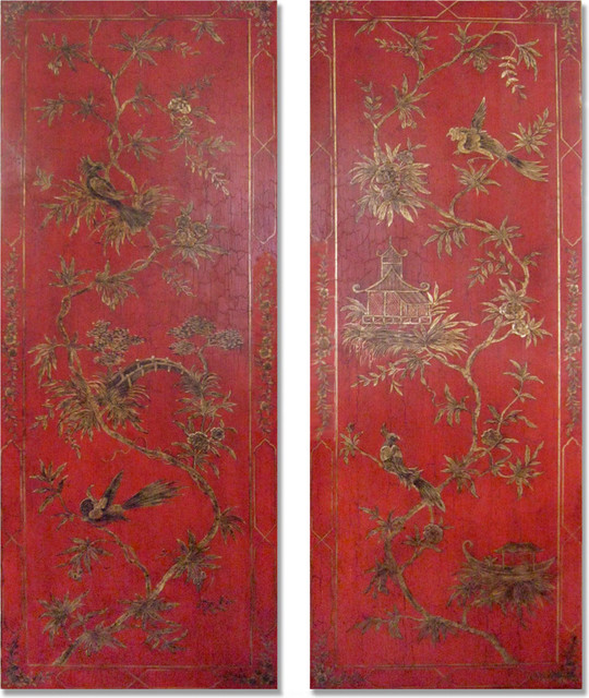 Chinoiserie Wall Panels - Artwork - los angeles - by JK Studio