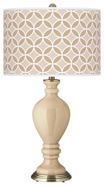 Contemporary Colonial Tan Circle Rings Civitia Table Lamp contemporary-table-lamps