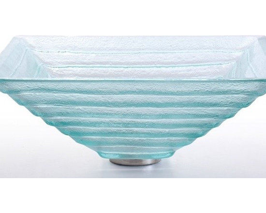 "Kraus GVS-910-15mm Alexandrite Square Clear Glass Vessel Sink - APPLY COUPON CODE ""EDHOUZ20"" AT CHECKOUT. JUST OUR WAY OF SAYING THANKS."