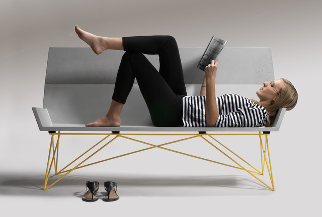 Inclinare Bench by Hard Goods modern-outdoor-benches