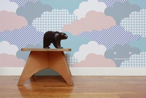 Clouds Wallpaper (Set of 2) modern-wallpaper