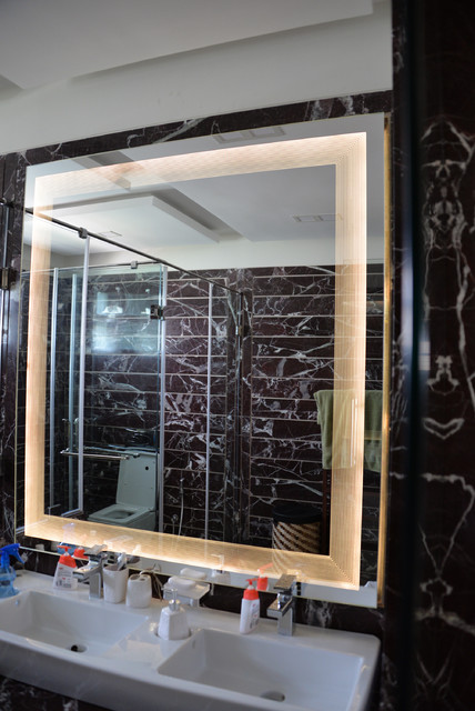 LinesOutlines 60inch by 60inch, Private Residence, Ahmedabad contemporary-bathroom-mirrors