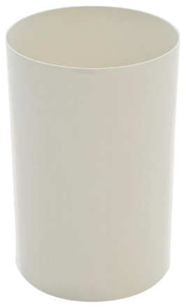 Waste Basket, Matte White modern-wastebaskets