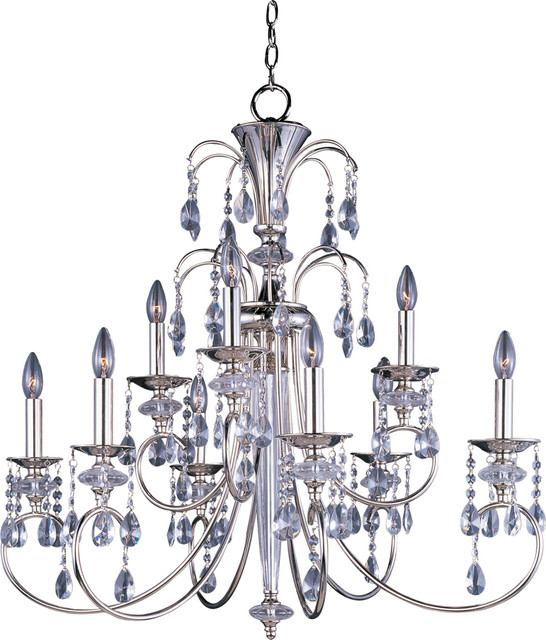 Maxim Lighting 24307CLPN Montgomery 9-Light Chandelier transitional-chandeliers