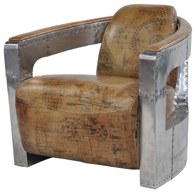 Aviator Club Chair Spitfire Arms contemporary-chairs