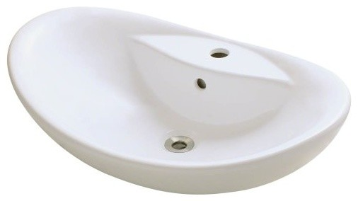 Polaris P012VB Bisque Porcelain Vessel Sink modern-bathroom-sinks