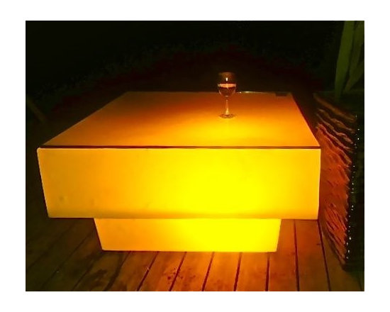 LED Square coffee table -